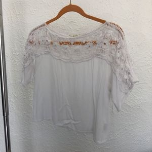 Urban Outfitters White crochet top